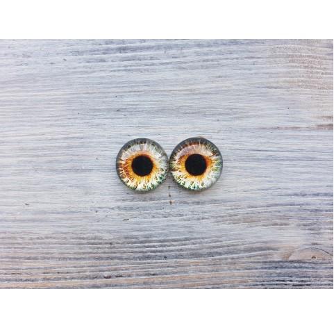 Glass eyes Brown 2, ~ Ø 1.8 cm