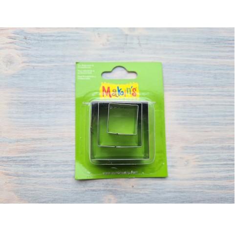 Set of metal cutters Makins, square, 3 pcs., 2-4 cm