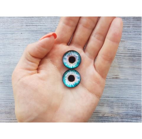 Glass eyes Blue 3, ~ Ø 2 cm