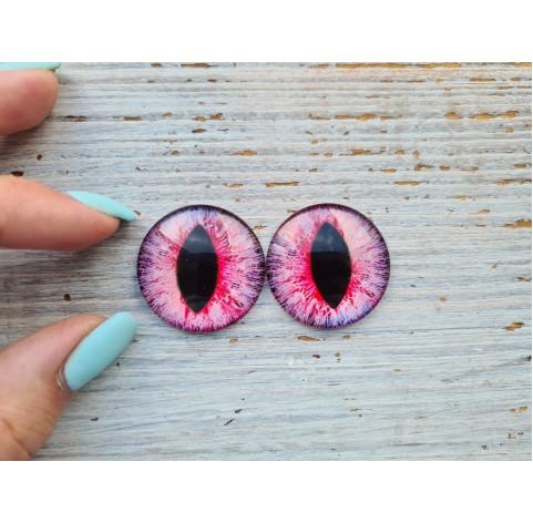 Glass eyes Pink 3, ~ Ø 3 cm