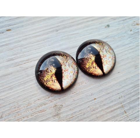 Glass eyes Brown 1, ~2,5 cm