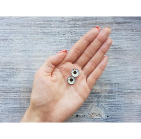 Glass eyes Blue 1, ~ Ø 1.4 cm