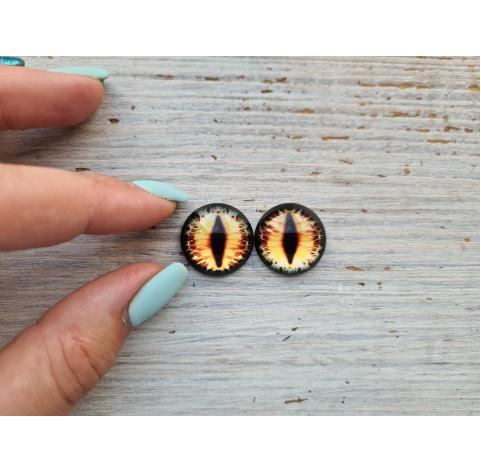 Glass eyes Yellow 2, ~ Ø 2 cm