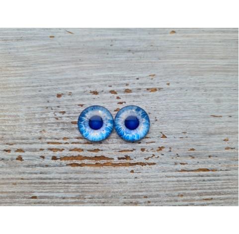 Glass eyes Blue 2, ~ Ø 1.2 cm