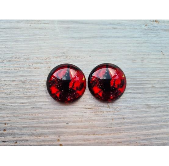 Glass eyes Red 1, ~2,5 cm