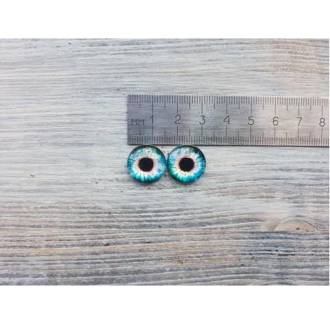 Glass eyes Blue 3, ~ Ø 1.6 cm