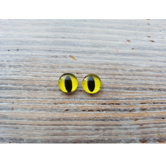 Glass eyes Yellow 2, ~ Ø 0.8 cm