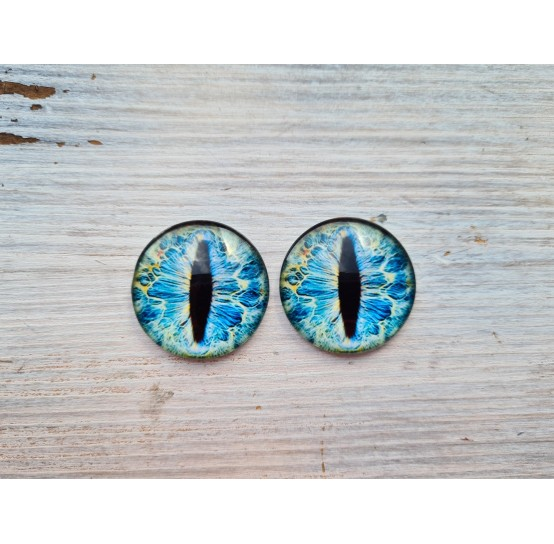 Glass eyes Blue 4, ~ Ø 3 cm
