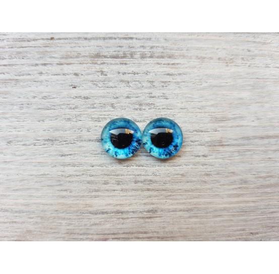 Glass eyes Blue 10, ~ Ø 1 cm