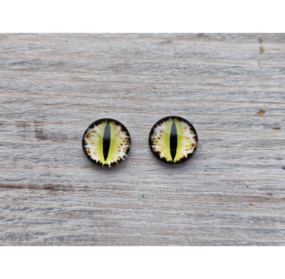 Glass eyes Yellow 4, ~ Ø 1 cm