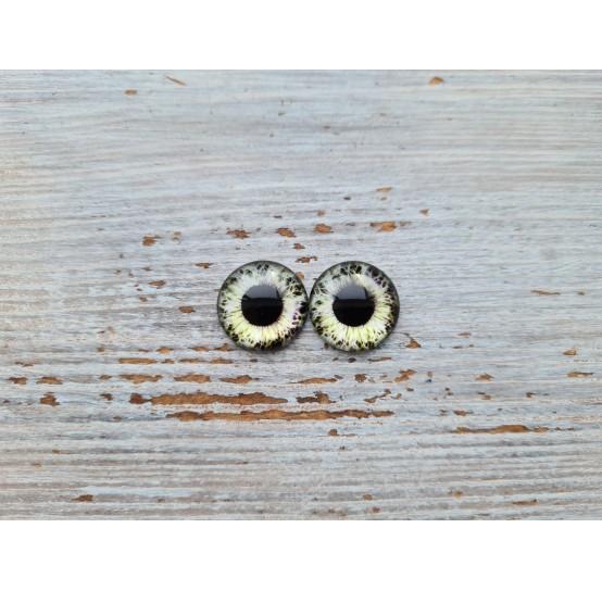 Glass eyes Green 12, ~ Ø 0.8 cm