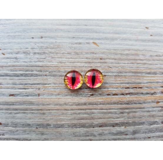 Glass eyes Pink 3, ~ Ø 0.8 cm