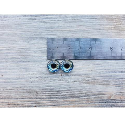 Glass eyes Blue 4, ~ Ø 1.2 cm