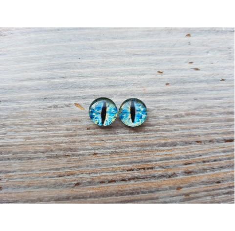 Glass eyes Blue 14, ~ Ø 1 cm