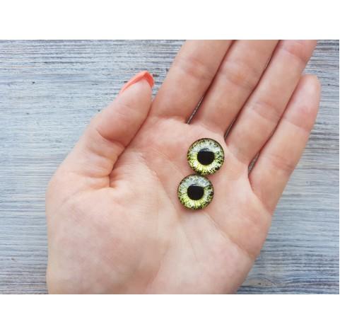 Glass eyes Green 3, ~ Ø 1.6 cm
