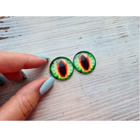 Glass eyes Green 4, ~2,5 cm