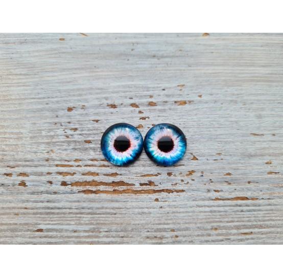 Glass eyes Blue 3, ~ Ø 1 cm