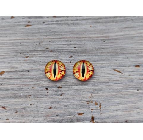Glass eyes Orange 2, ~ Ø 1 cm