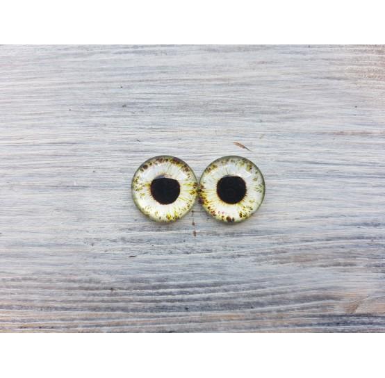 Glass eyes Green 3, ~ Ø 2 cm