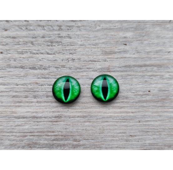 Glass eyes Green 6, ~ Ø 1 cm