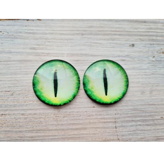 Glass eyes Green 6, ~ Ø 3 cm