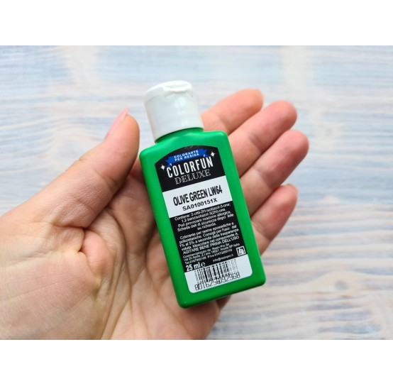 Dye for epoxy resins Colorfun Deluxe, olive green, 25ml