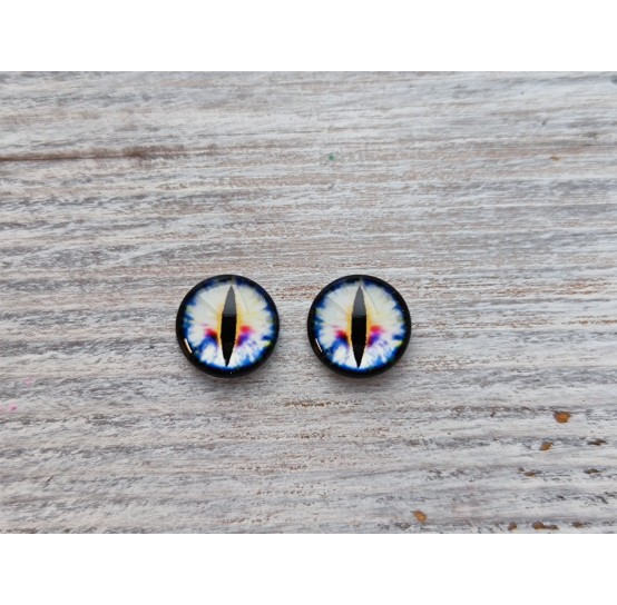 Glass eyes White 4, ~ Ø 1 cm
