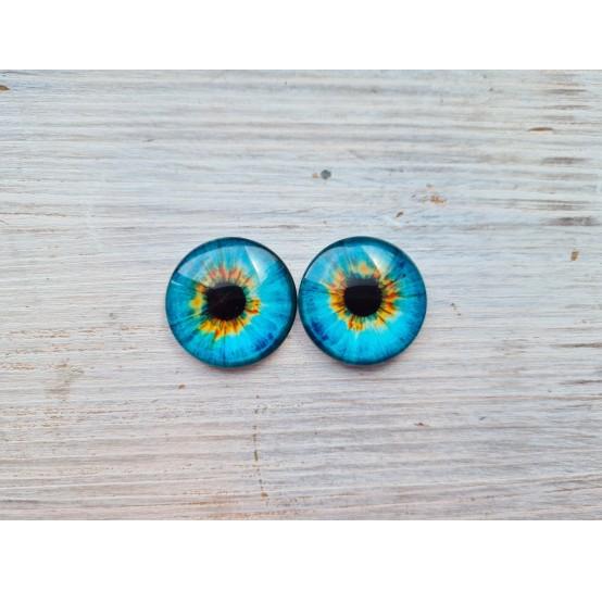Glass eyes Blue 7, ~2,5 cm
