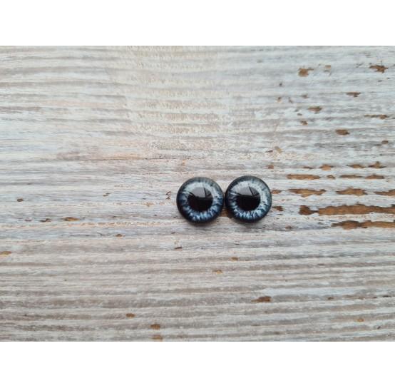 Glass eyes Grey 1, ~ Ø 1 cm
