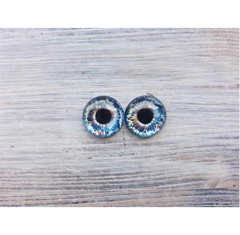 Glass eyes Blue 4, ~ Ø 2 cm