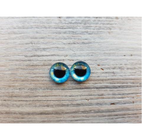 Glass eyes Blue 11, ~ Ø 1 cm