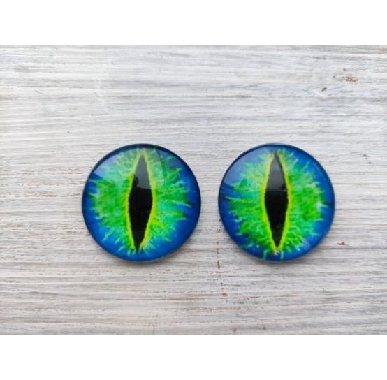 Glass eyes Green 1, ~ Ø 3 cm