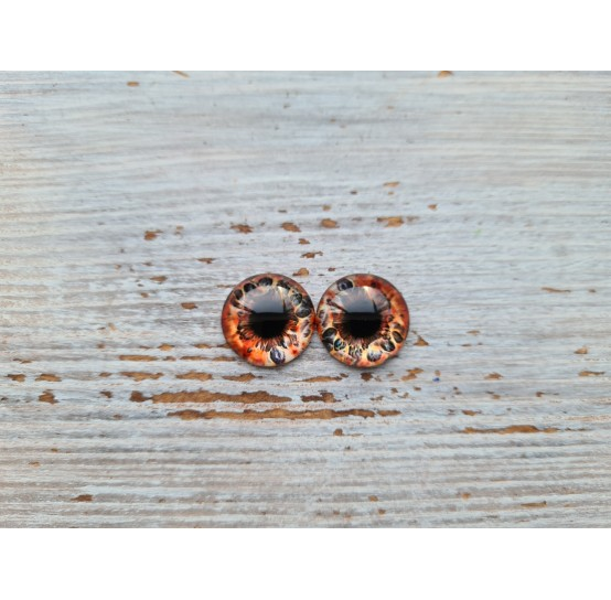Glass eyes Brown 1, ~ Ø 1 cm