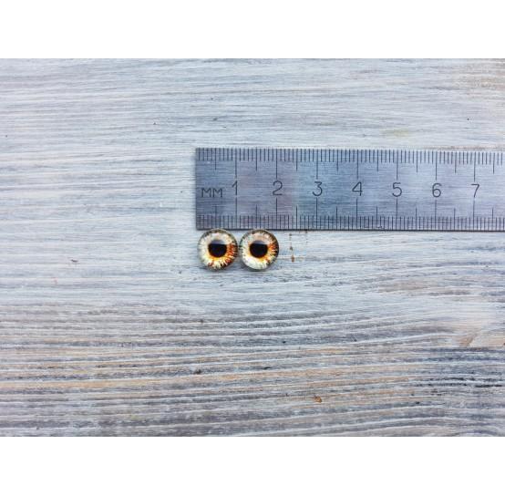 Glass eyes Brown 2, ~ Ø 1 cm
