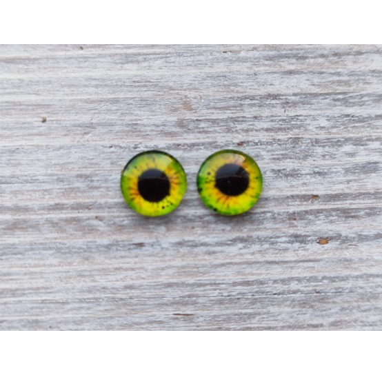 Glass eyes Yellow 4, ~ Ø 0,6 cm