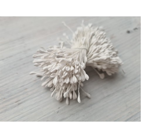 Stamens, white, large bundle, 2 mm