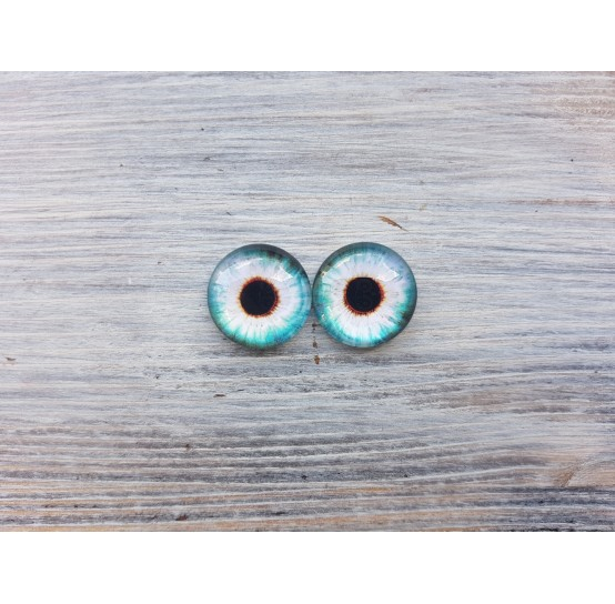 Glass eyes Blue 3, ~ Ø 1.8 cm