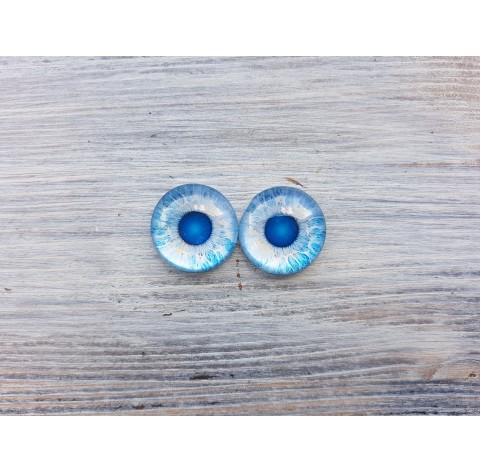 Glass eyes Blue 2, ~ Ø 2 cm