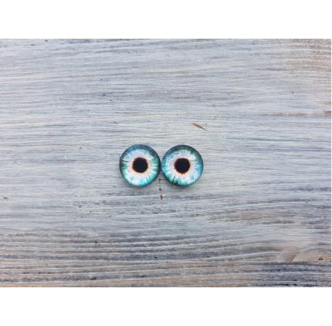 Glass eyes Blue 3, ~ Ø 1.4 cm
