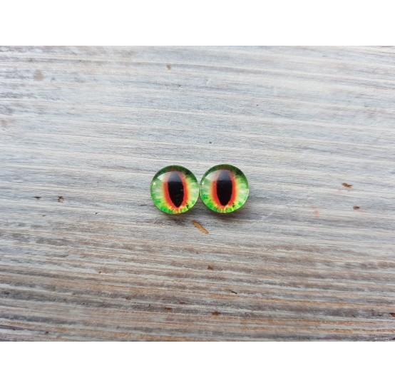 Glass eyes Green 10, ~ Ø 1,2 cm