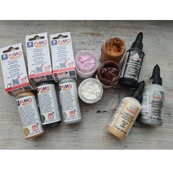 Liquid oven-bake polymer clay with color (12)