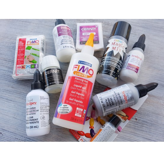 Liquid polymer clay and softeners