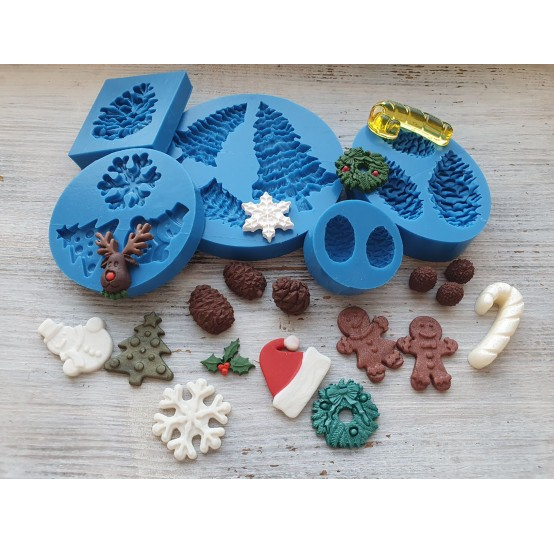 Silicone molds of christmas decorations