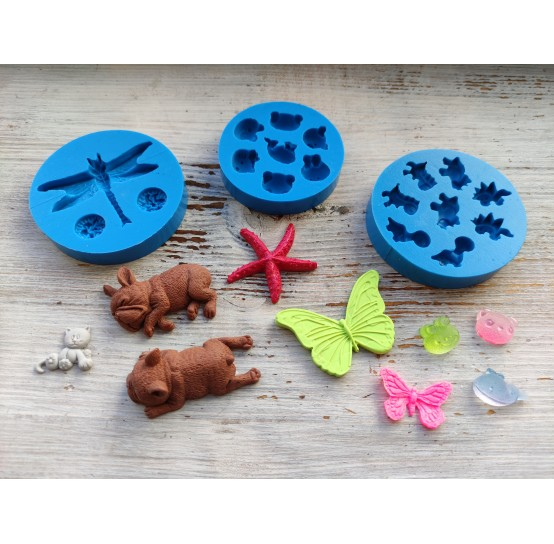 Silicone molds of animals and insects