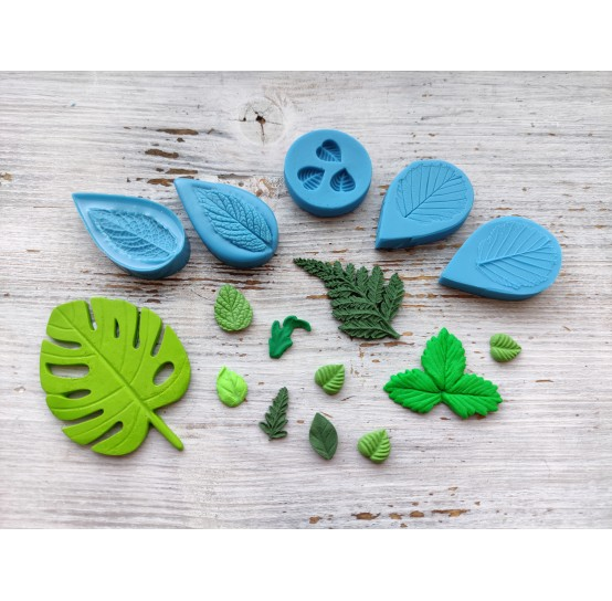 Silicone molds of leaves