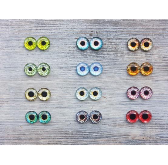 Glass eyes 1,4 cm (12)