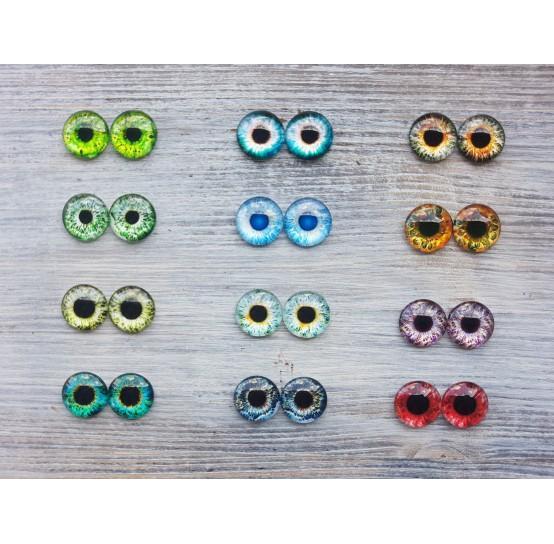 Glass eyes 1,6 cm (12)
