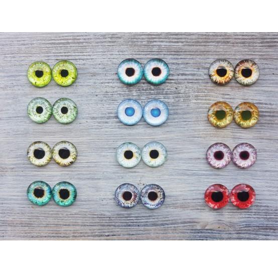 Glass eyes 1,8 cm (12)