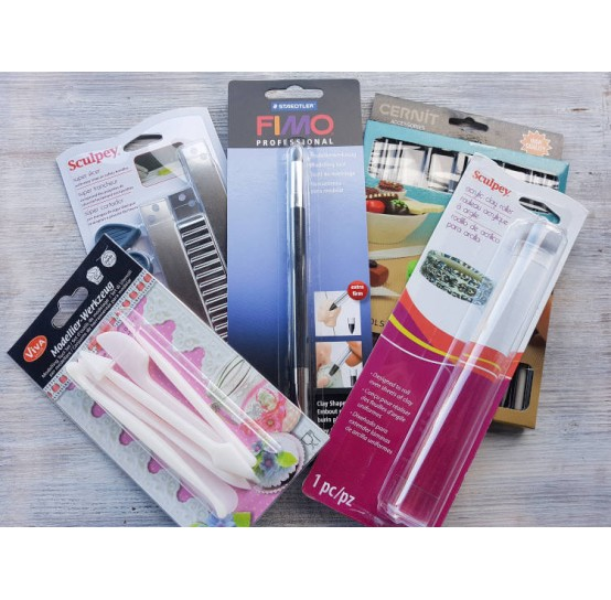 Tools and cutters for polymer clay