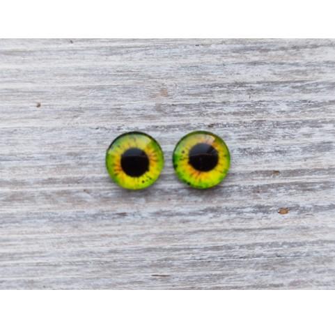 Glass eyes Green 8, ~ Ø 1.2 cm